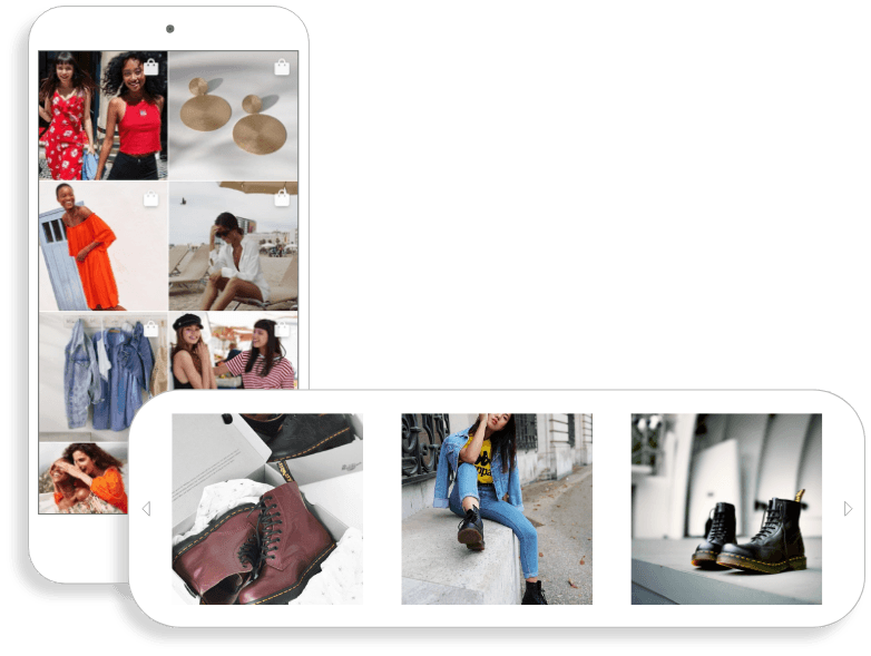 Magento 2 Instagram Shop appealing and functional photo slider