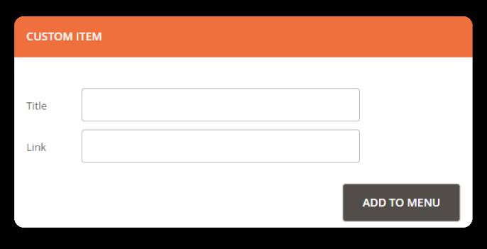 Magento 2 Mega Menu add links to menu