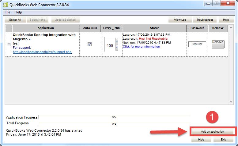 open file in Quickbooks Web Connector