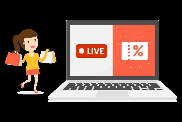 Offer Facebook Livestream coupons