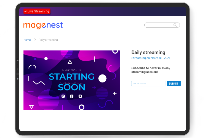 notify customers about live video streaming