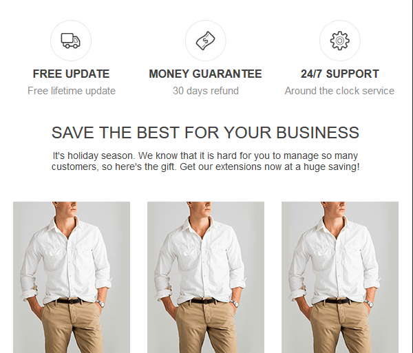 magento 2 fashion email template 2