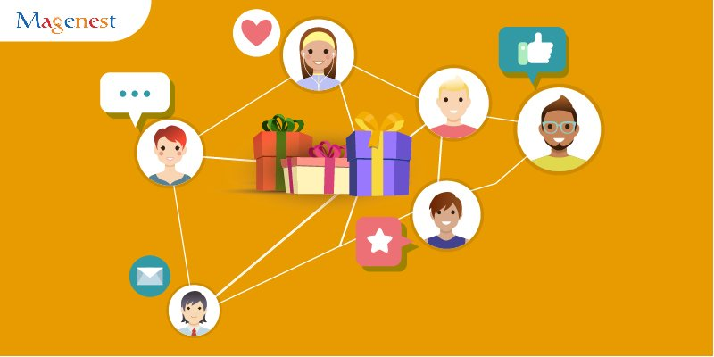 share gift registries to friends