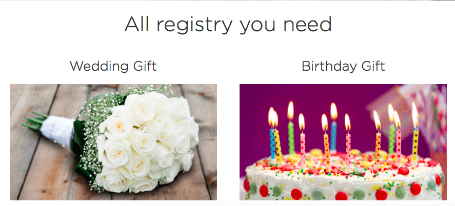 create and manage gift registries effectively