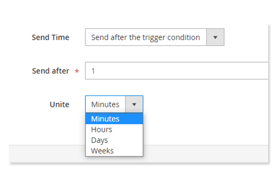 Magento 2 Notification Box send after trigger condition