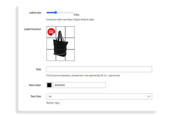 magento 2 product labels Customize labels easily