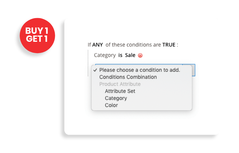 magento 2 product labels set rules for labels