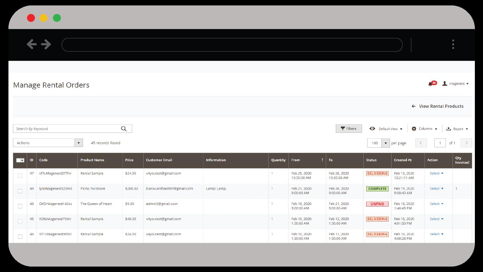 Magento 2 Rental System