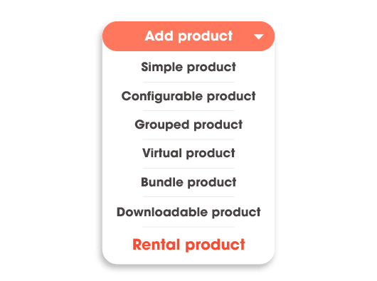 magento 2 rental system add new product