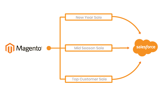 Magento 2 Salesforce Integration sync promotion campaign
