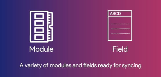 sync to multiple modules and fields