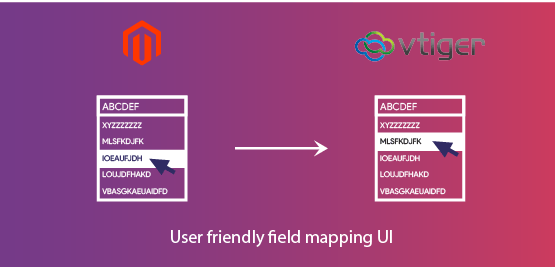 Magento 2 Vtiger CRM Extension user-friendly-field-mapping-UI
