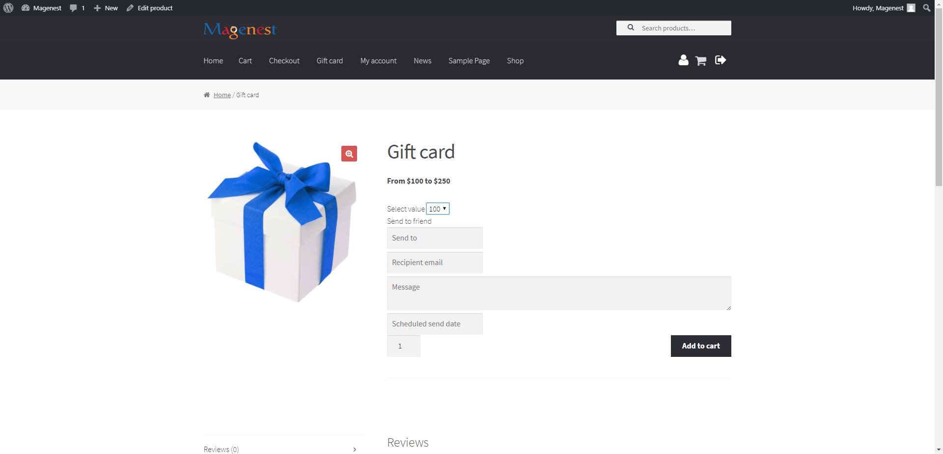 Woocommerce Gift Card Magenest E Commerce Expert