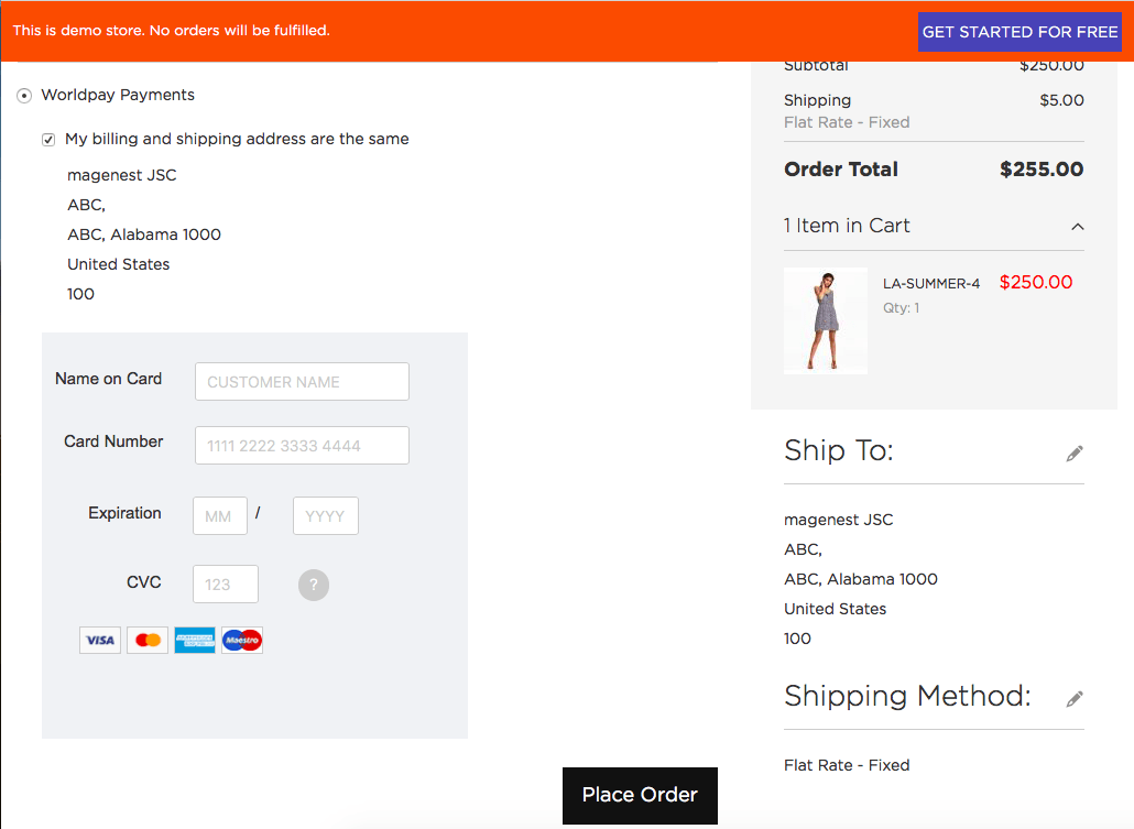 Magento 2 Worldpay Payment and Subscriptions Extension seamless checkout