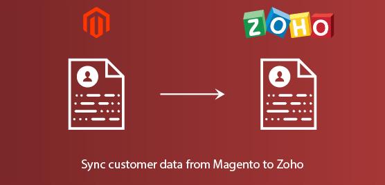 sync customer data from Magento to zoho