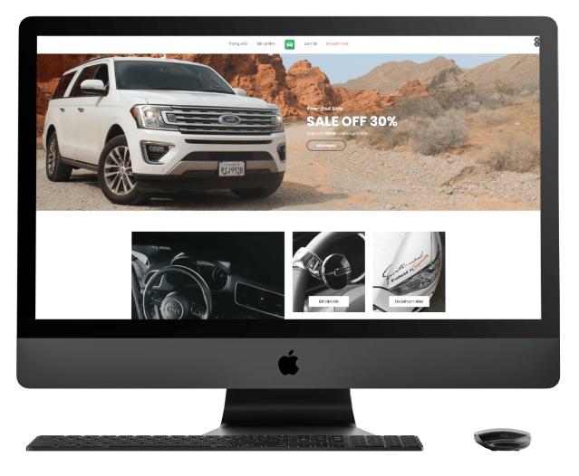Website homepage Hicar.vn