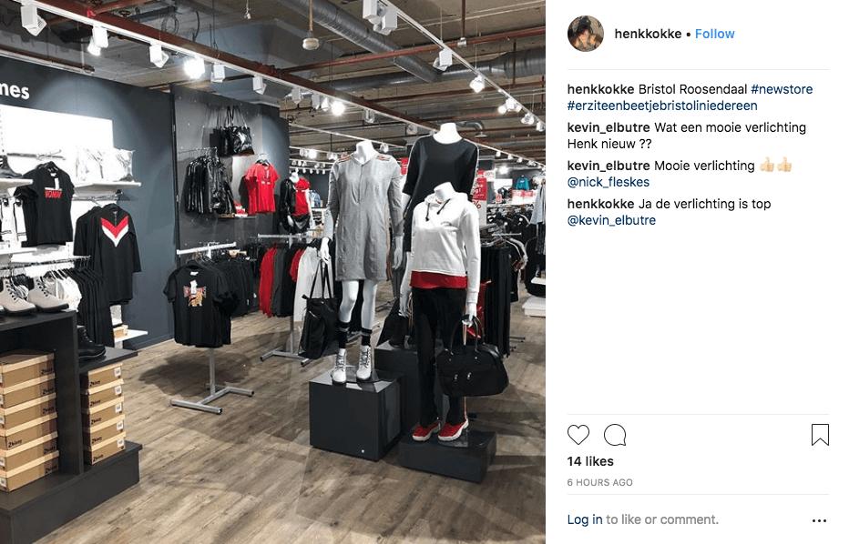 online-to-offline conversion: instagram post