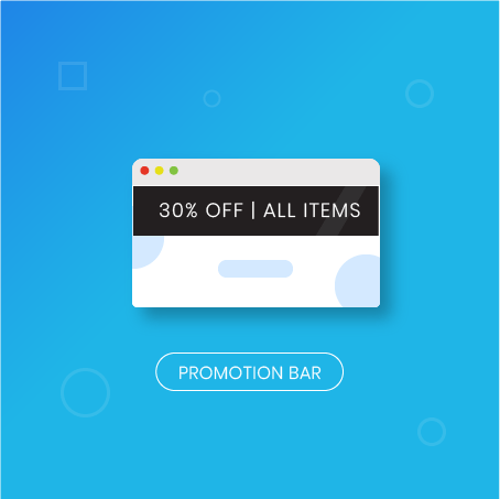 Magento 2 Promo Bar: Magenest extension
