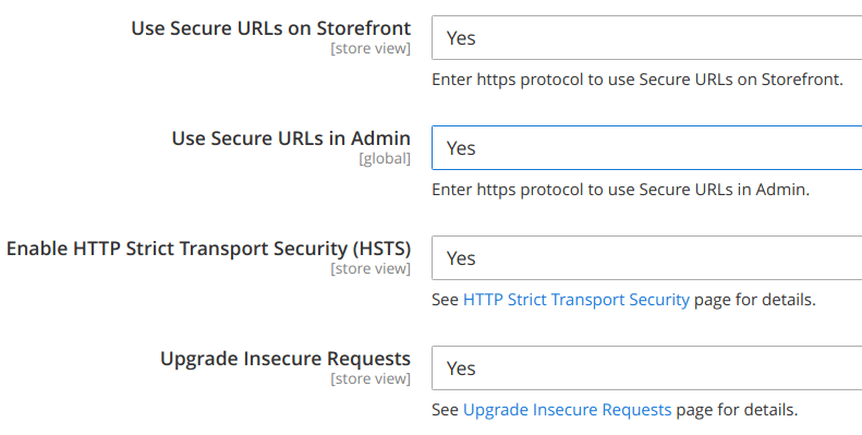 https setting in Magento 2 backend