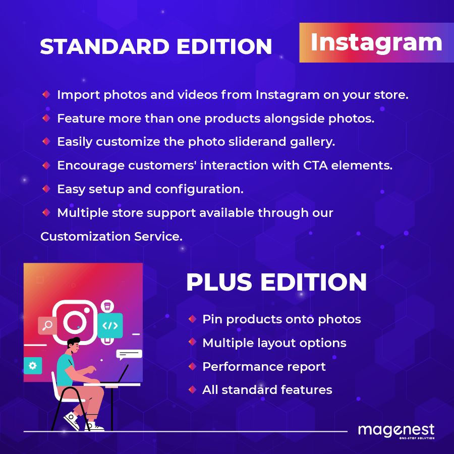 Instagram standard and plus edition