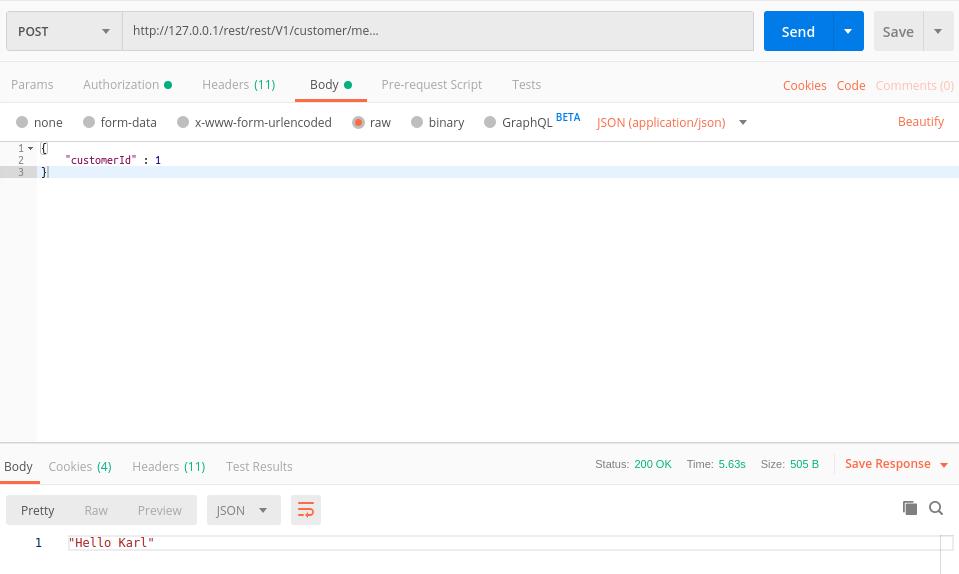 REST API Magento 2: Test