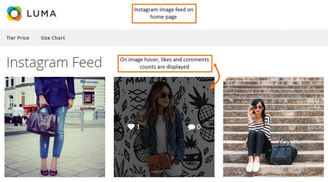 Magento 2 Instgram Widget extension: Magecomp