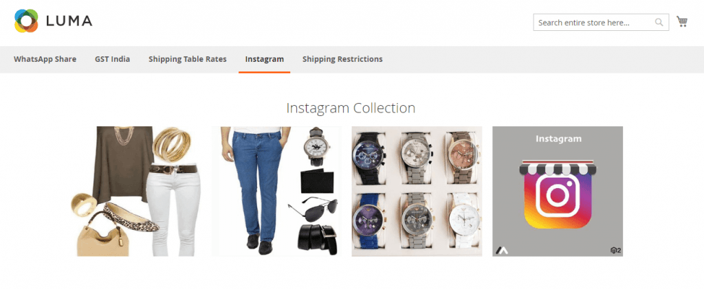 Magento 2 Instgram Feed: Meetanshi