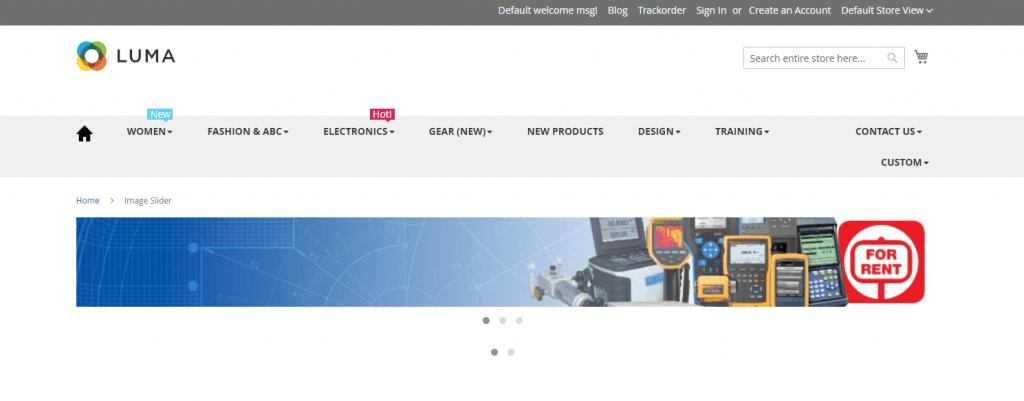 Magento 2 banner slider: Landofcoder