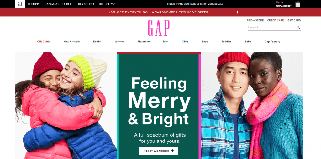 multi-brand retail: gap