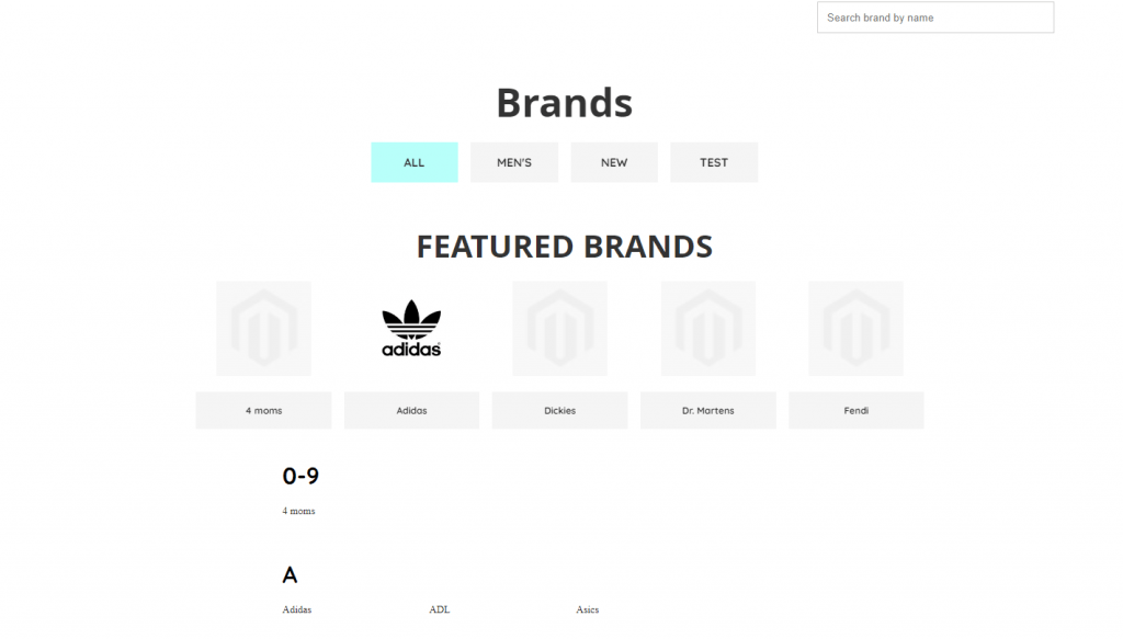 multi-brand retail: shop by brand
