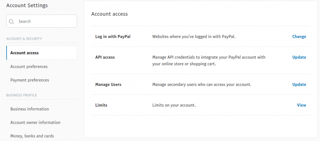 configure Paypal payment method in Magento 2: Paypal merchant account