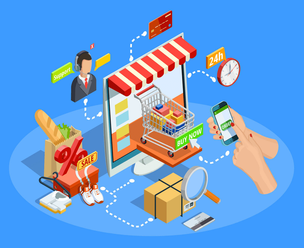 store within a store: support eCommerce