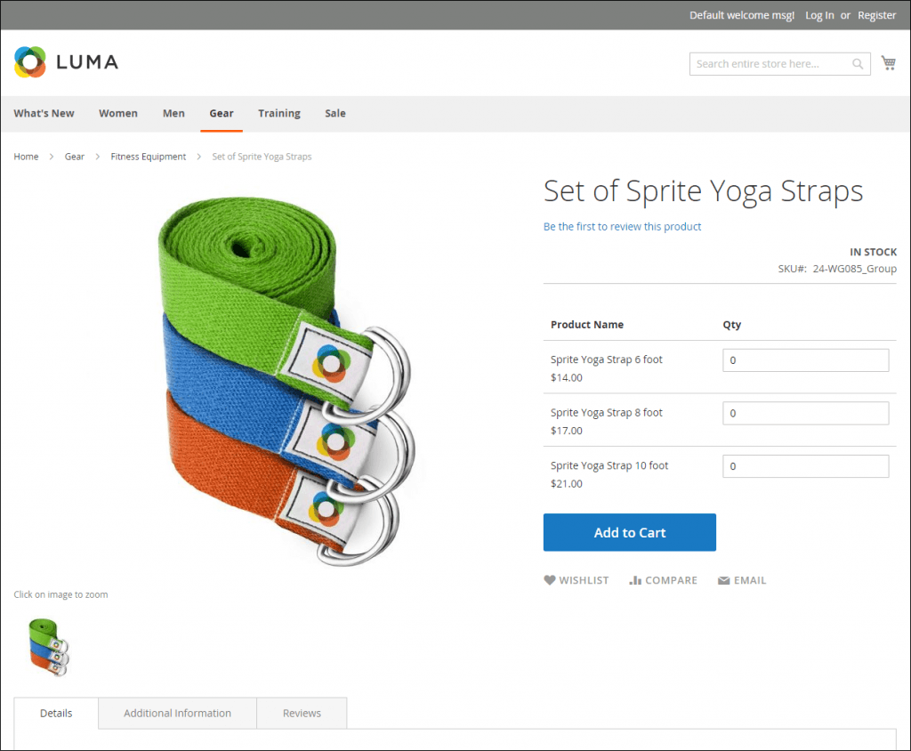 Magento 2 product image: example