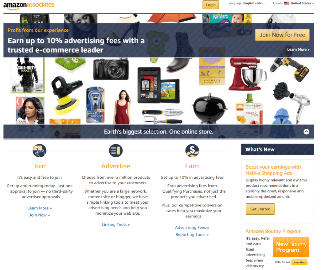Affiliate marketing: Amazon Associate
