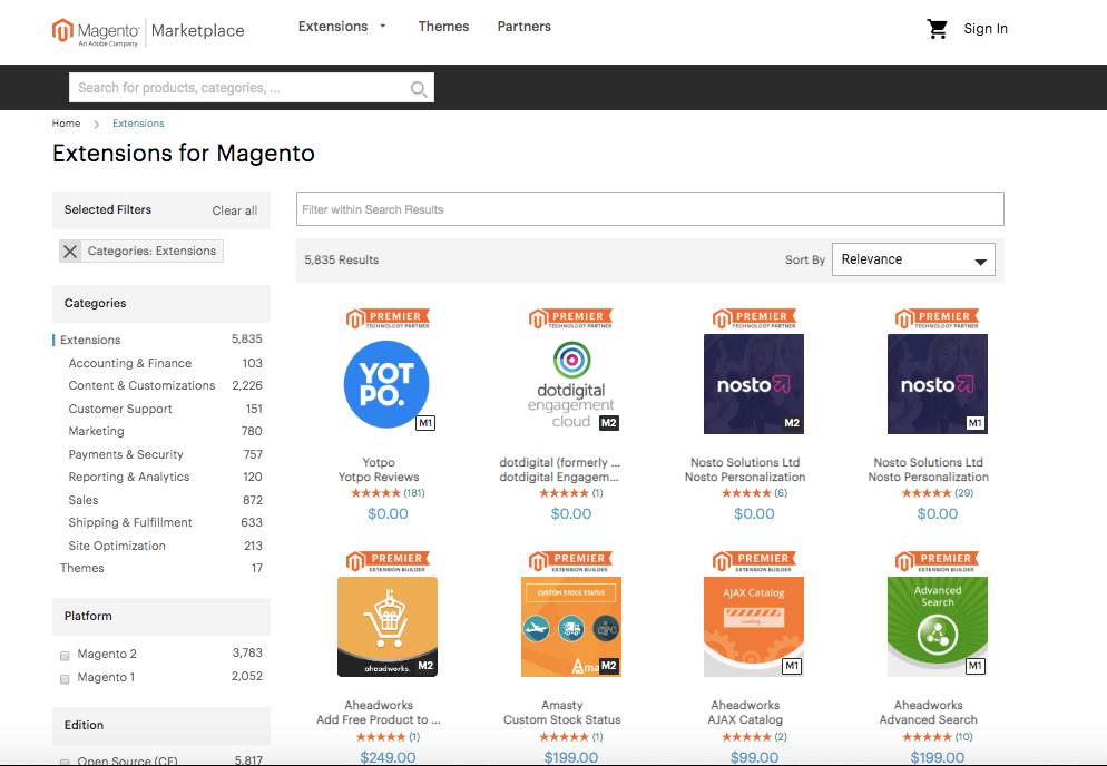 Shopify to Magento 2: magento extensions