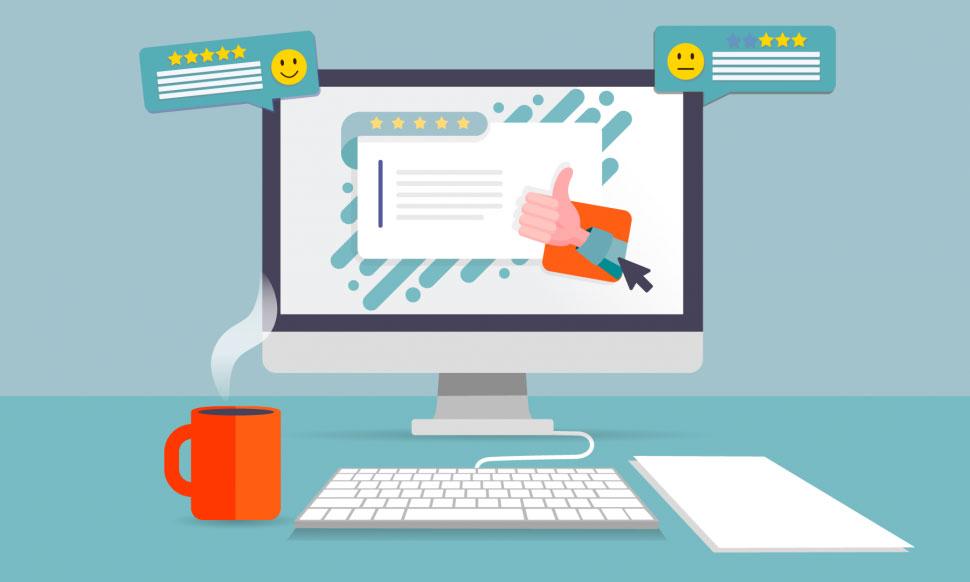 online rental business: ask for feedback