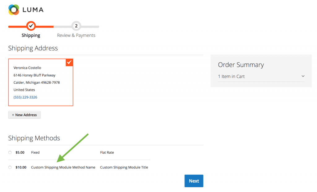 enable module in checkout page magento 2