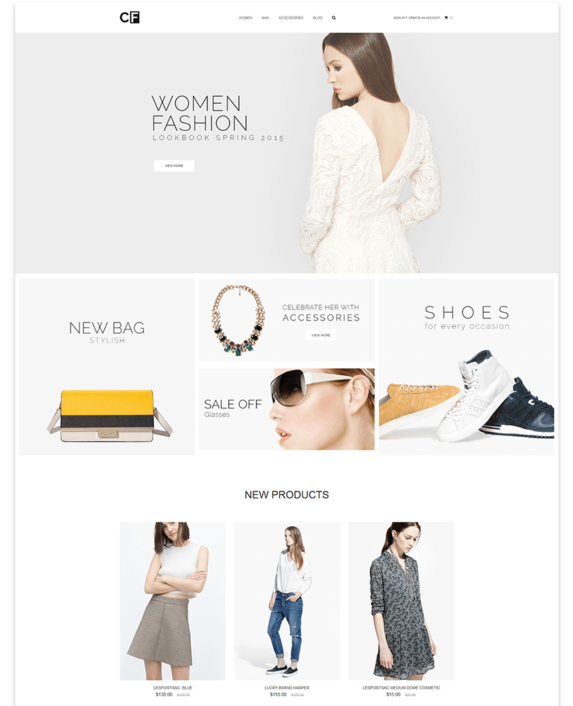Magento 2 themes in 2020: CF theme