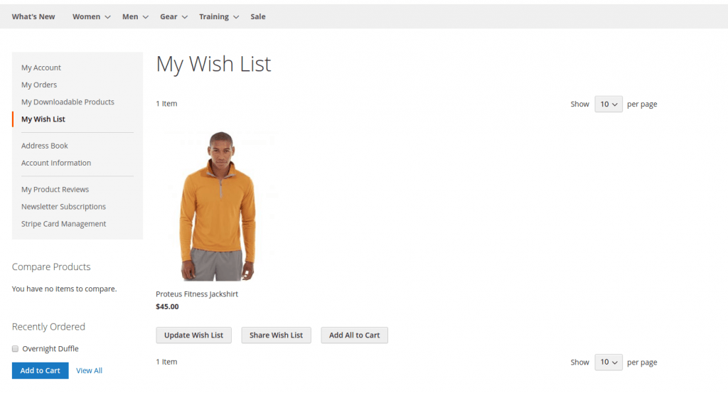 Add Product to Magento 2 wishlist