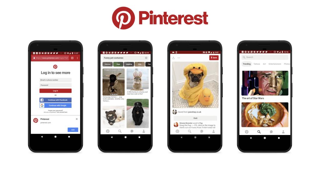 PWA vs Native App: Pinterest progressive web app