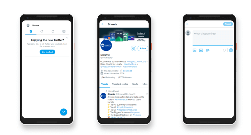PWA vs Native App: Twitter progressive web app