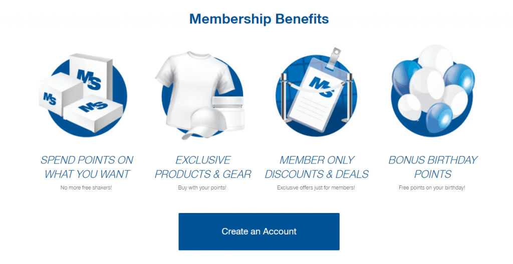 customer loyalty program: muscle and strength reward program
