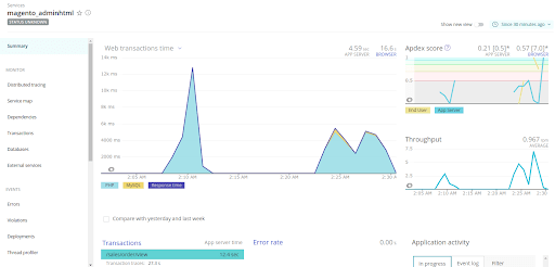 setup New Relic APM overview