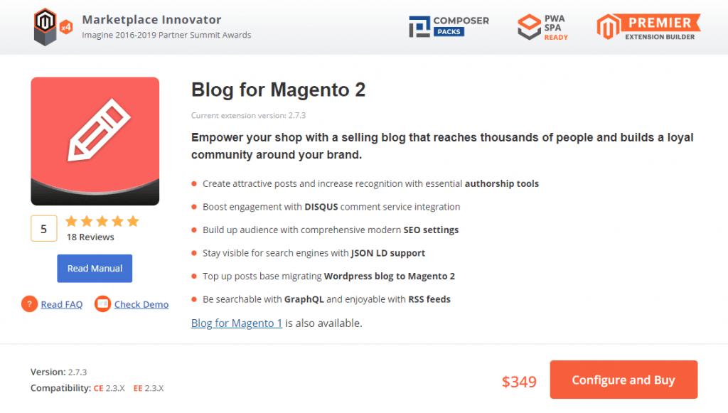 Magento 2 Blog extension: Aheadworks