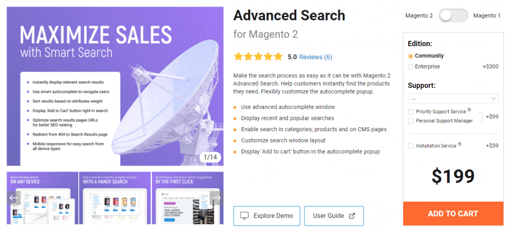 magento 2 search extension: amasty