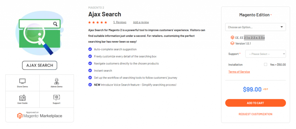 Magenest Ajax search