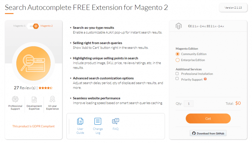 magento 2 search extension: mageworx