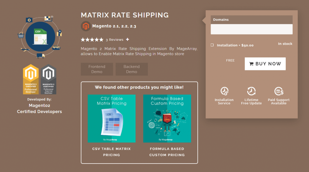 Magento 2 Shipping extension: MageArray