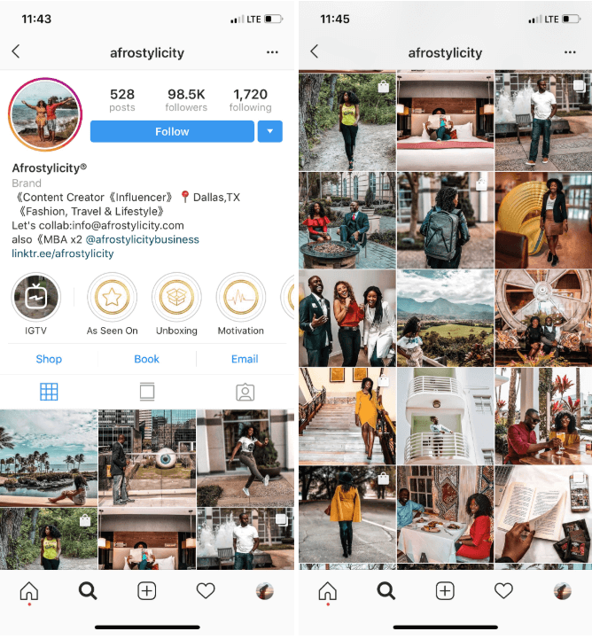 shoppable Instagram feed: arrange properly