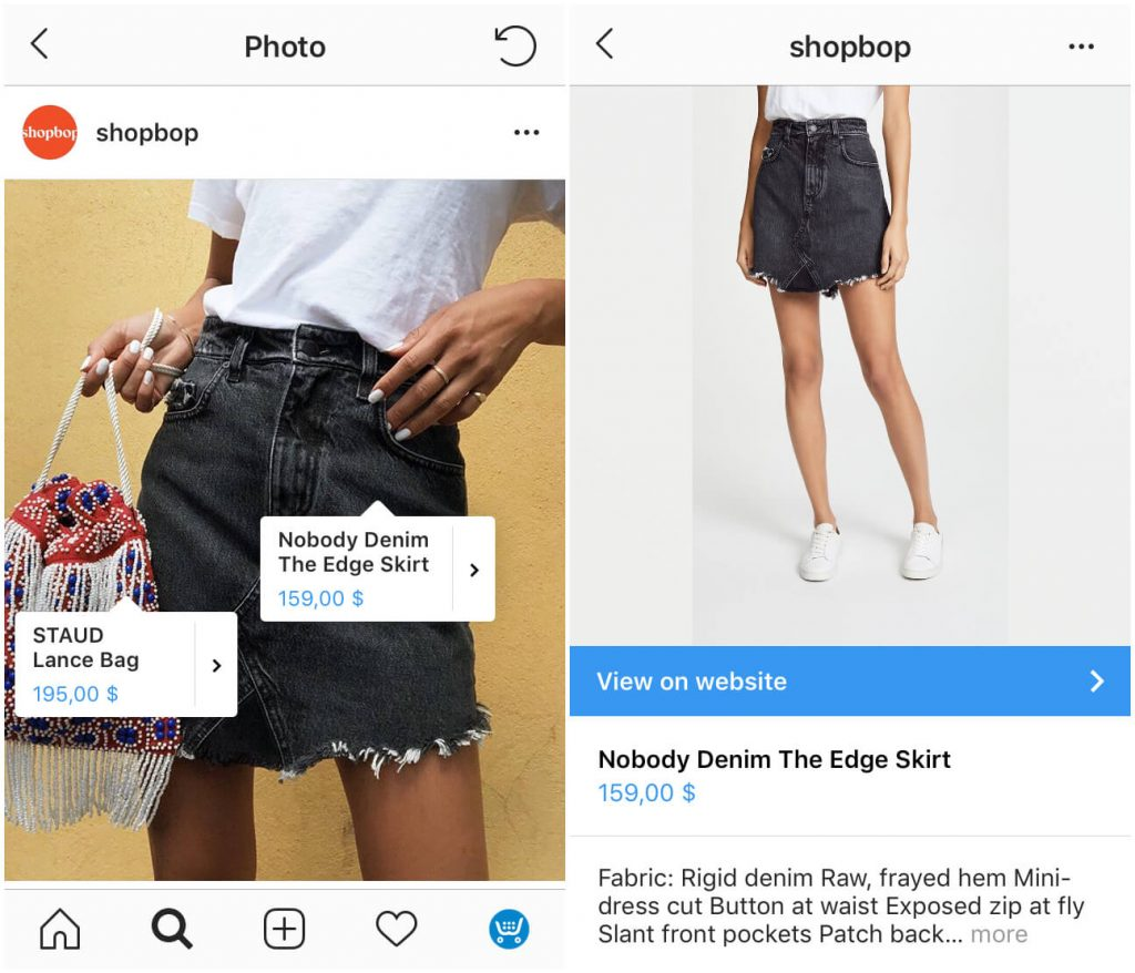 shoppable instagram feed: control number of tags